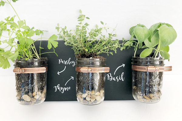 DIY Mason Jar Planter