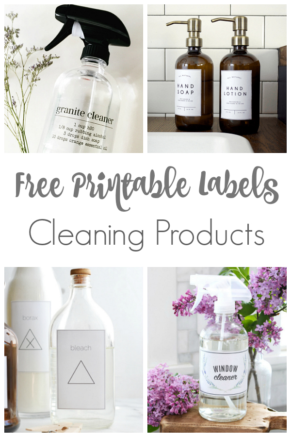 I absolutely LOVE cute labels to keep things organized in my home. These cleaning labels are amazing! #organize #organization #freelabels #printablelabels #printables #organizationlabels #freeprintables #organizedhome #cleaninglabels