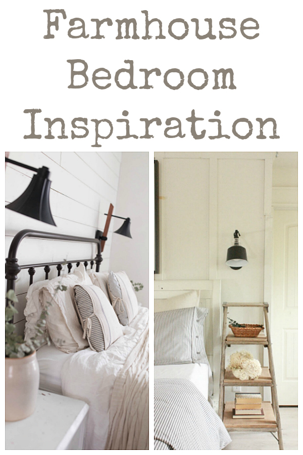 Gorgeous ideas for creating a farmhouse bedroom.