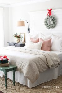 Farmhouse Master Bedroom Inspiration Shiplap Headboard Sincerely ...
