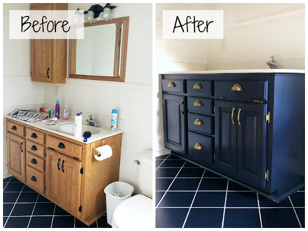 Great step by step tutorial for painting a vanity. Love all the great pieces of advice along the way! #paintvanity