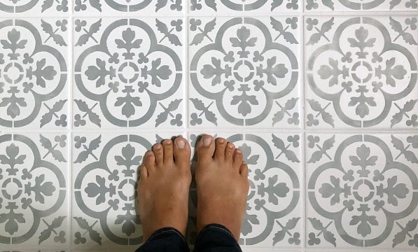 DIY Stenciled Floor for Less Than $40