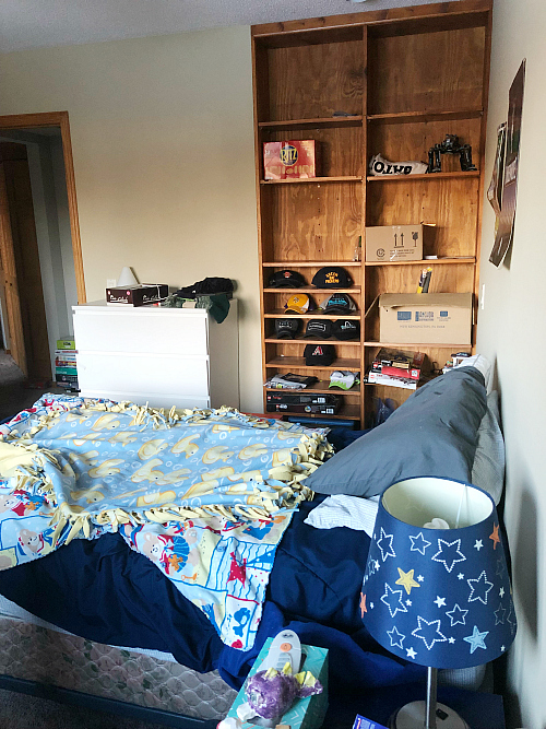 Boy Bedroom Makeover on a $100 Budget