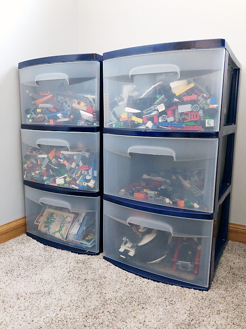 Boy Bedroom Lego Storage