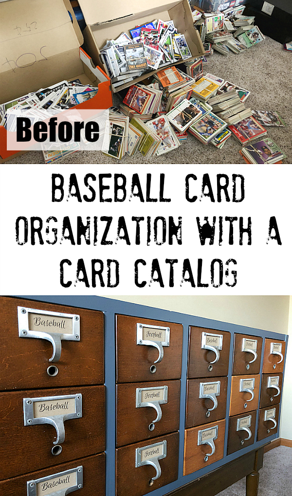 Football And Baseball Cards Organization Card Catalog