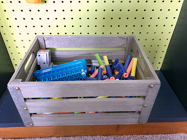 Boy Bedroom Ideas: Nerf Bullet Bin