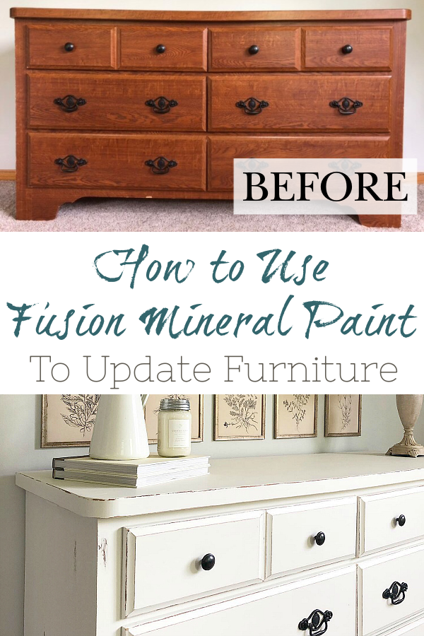Learn how to use Fusion Mineral Paint to makeover your outdated furniture.