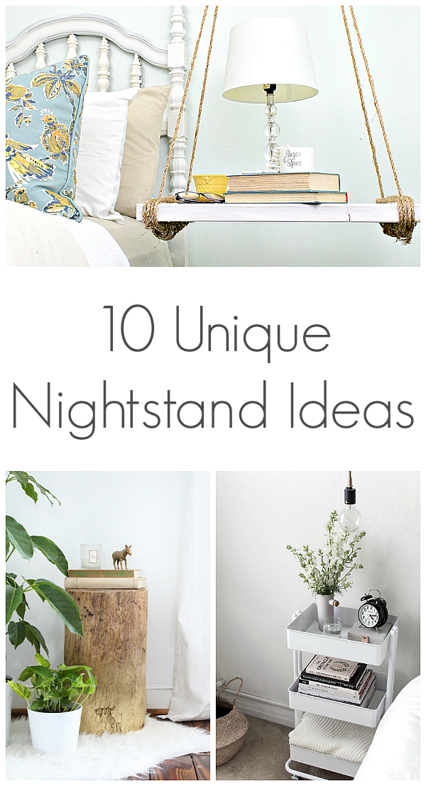 Loving these unique nightstand ideas. #bedroominspiration #nightstandideas