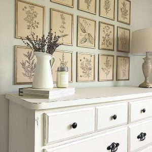 Example of painted furniture to show how to design a room on a budget
