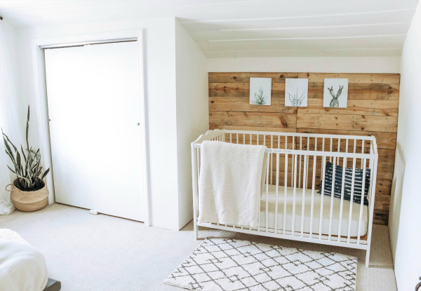 Favorite $100 Room Makeovers from the $100 Room Challenge. This nursery from The Definery Co. is absolutely incredible!