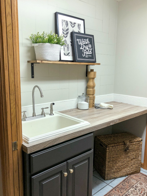 Favorite $100 Room Makeovers from the $100 Room Challenge. This laundry room form Grace is our Space is absolutely incredible!