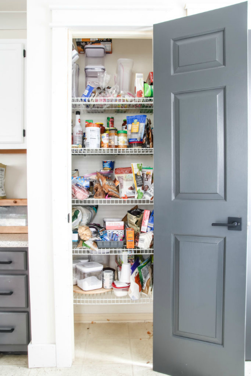Favorite $100 Room Makeovers from the $100 Room Challenge. This pantry from Living Letter Home is absolutely incredible!