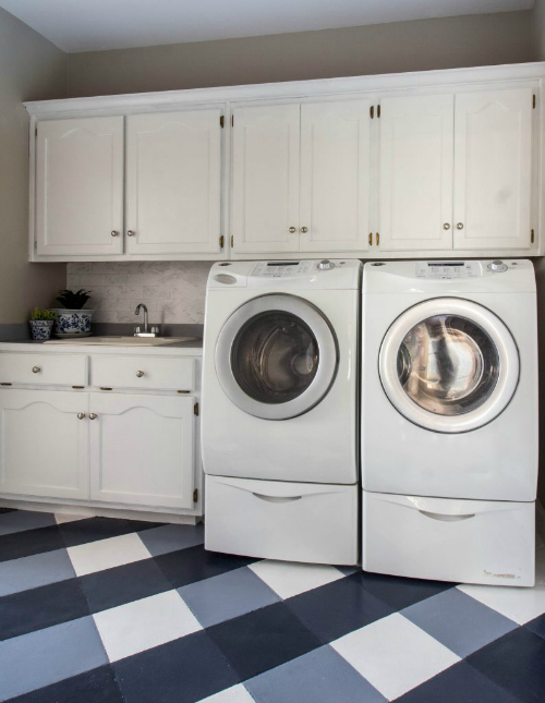 Favorite $100 Room Makeovers from the $100 Room Challenge. This laundry room from Savvy Apron is absolutely incredible!