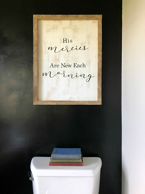 DIY Farmhouse Sign: His Mercies are New Each Morning
