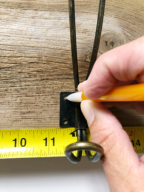 Measuring and Marking Hooks for DIY Towel Rack