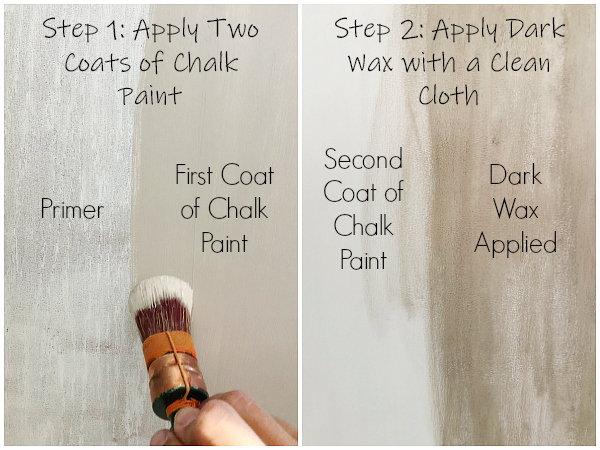 Create a weather wood look using chalk paint and dark wax