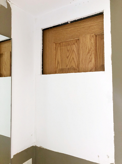 Hole in Drywall Behind Medicine Cabinet