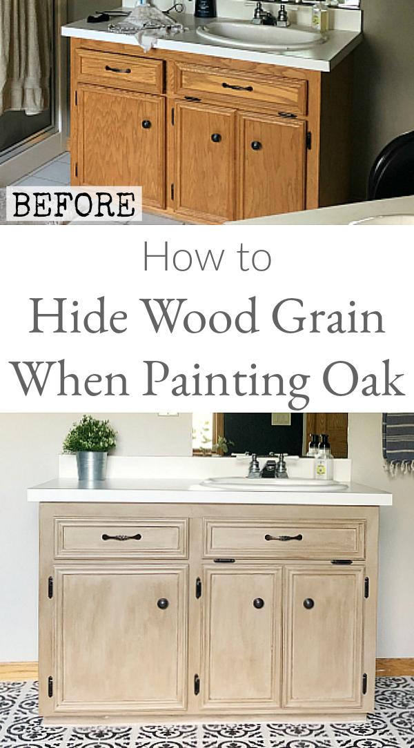 How to Hide Wood Grain when painting oak