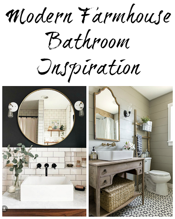 Modern Farmhouse Bathroom Inspiration.