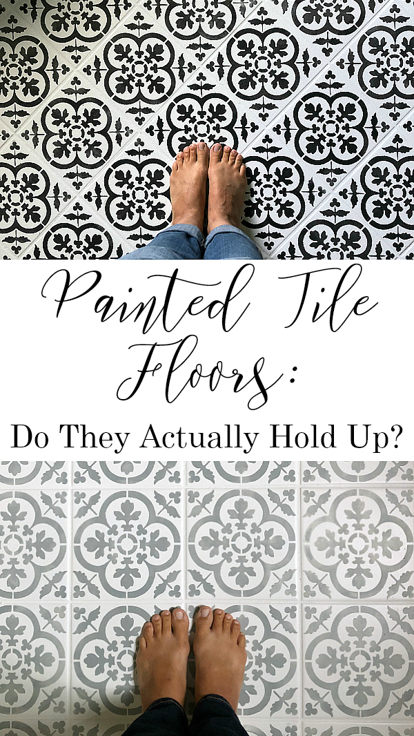 Do Painted Tile Floors Hold Up Over Time? Pinterest Image