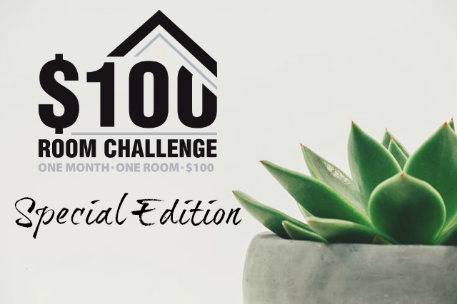 Title Image for $100 Room Challenge Bathroom Makeover