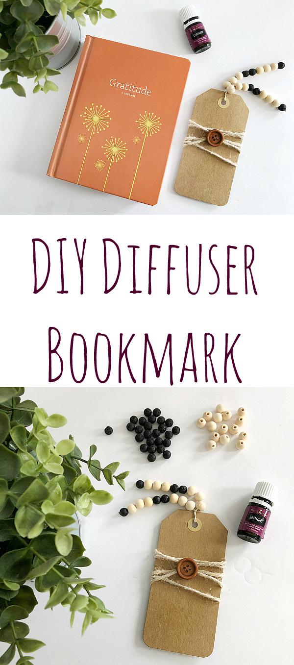 DIY Diffuser Bookmark Pinterest Image