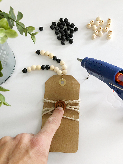 Adding embellishments to DIY diffuser bookmark