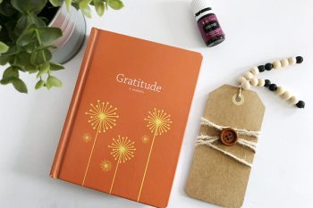 Gratitude Journal paired with DIY Diffuser Bookmark and Gratitude Essential oil