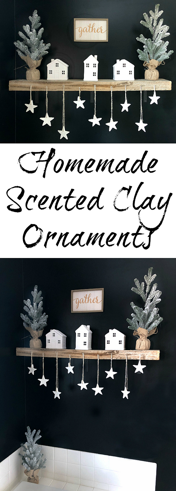 DIY Scented Clay Ornaments Pinterest Image