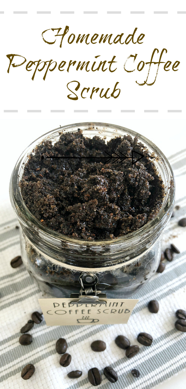 Easy to make Homemade Peppermint Coffee Scrub