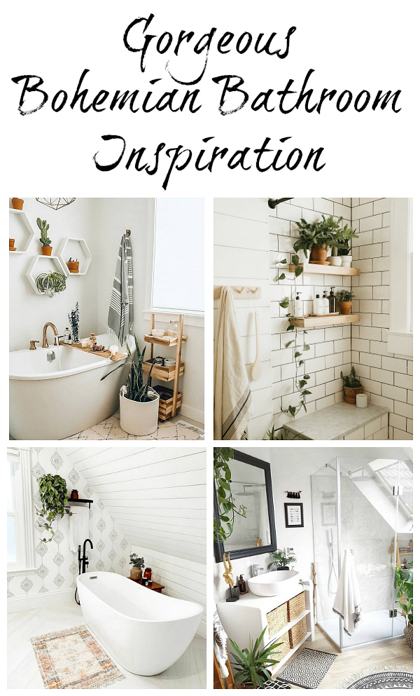 Boho / Bohemian Bathroom Inspiration