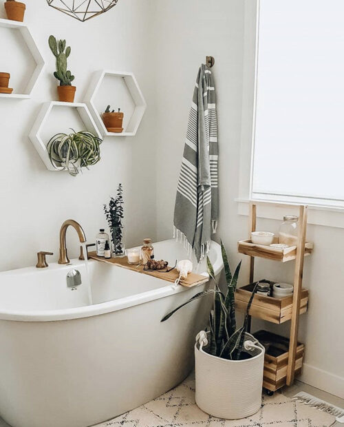 Bohemian Bathroom Inspiration from The Blush Home
