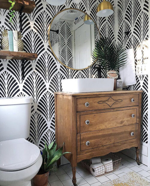 Boho Bathroom Inspiration from The Wheeler House