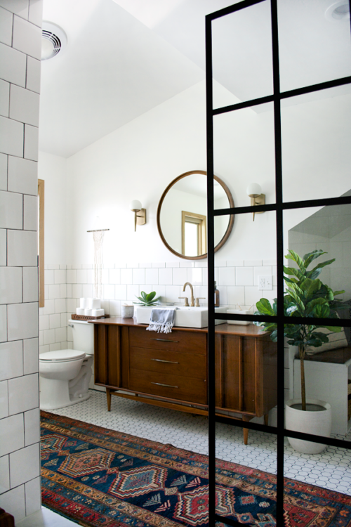 Boho bathroom inspiration from Bre Purposed