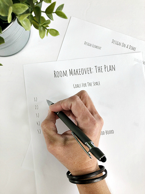 Free Printable showing how to design on a budget