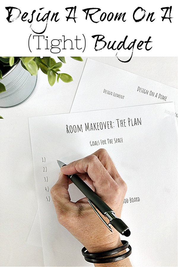 Learn how to design a room makeover on a tight budget. Free Printable!