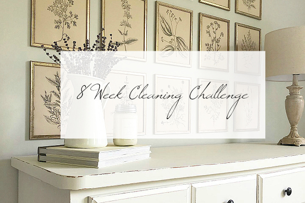 8 week cleaning challenge title image