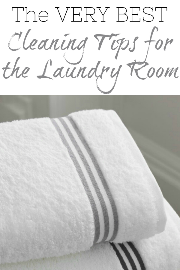 The best cleaning tips for the laundry room, with everything from DIY Laundry Detergent to DIY Stain Remover. This post has it all!