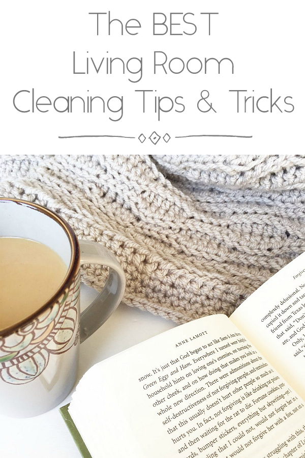 Living Room Cleaning Tips Pinterest Image
