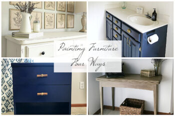 Painting Furniture Four Ways with Pros and Cons