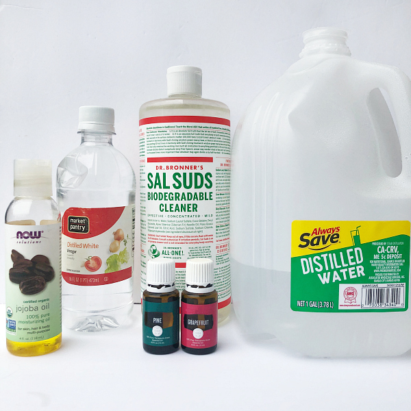 Ingredients needed to make your own DIY dish soap