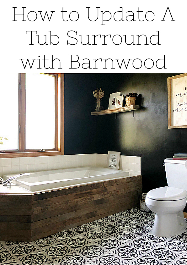 Updating a Tub Surround with Barnwood