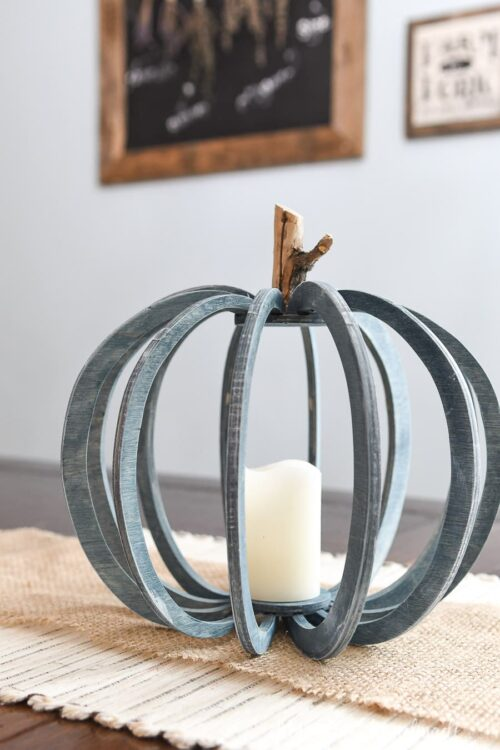 3D DIY Wood Pumpkin from Houseful of Handmade