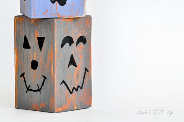 DIY Wood Block Pumpkins from Anika's DIY Life