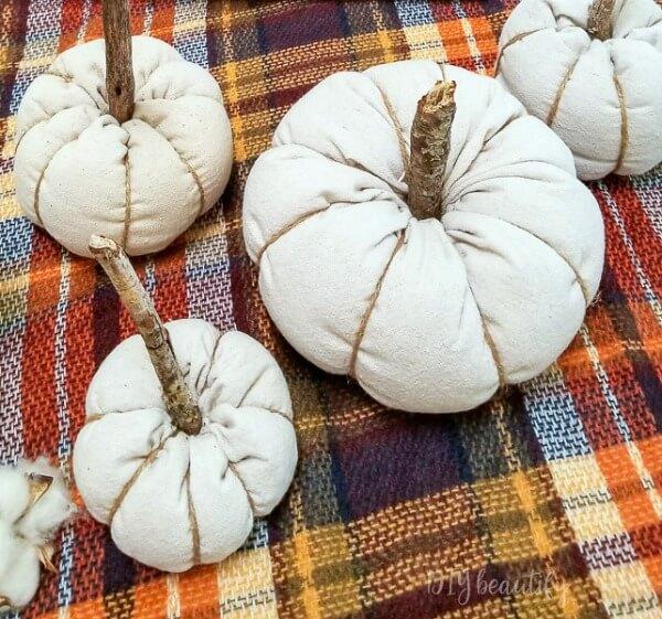 Drop Cloth Pumpkins via DIY Beautify