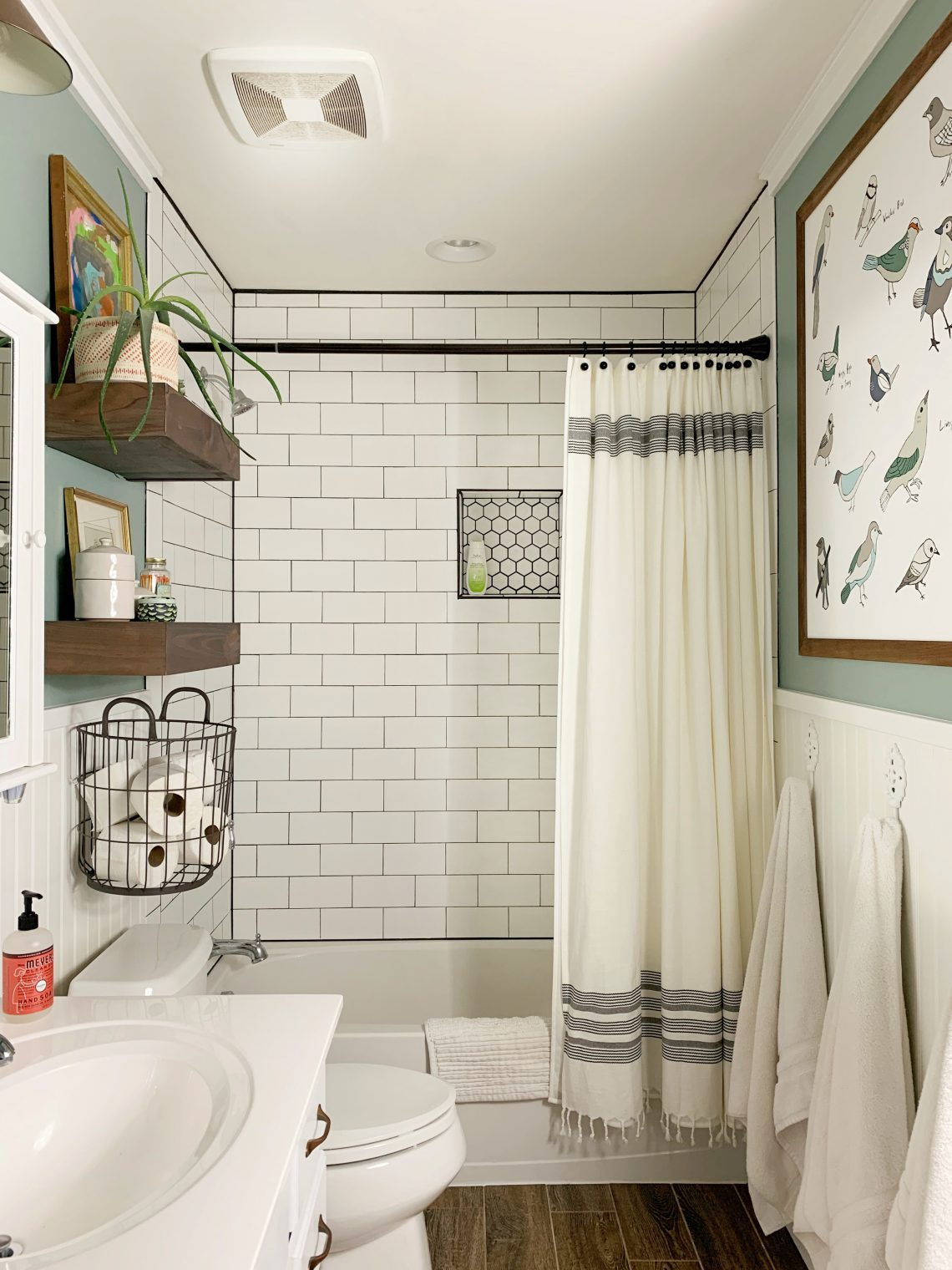 $100 Guest Bathroom Makeover by Hilltown House After