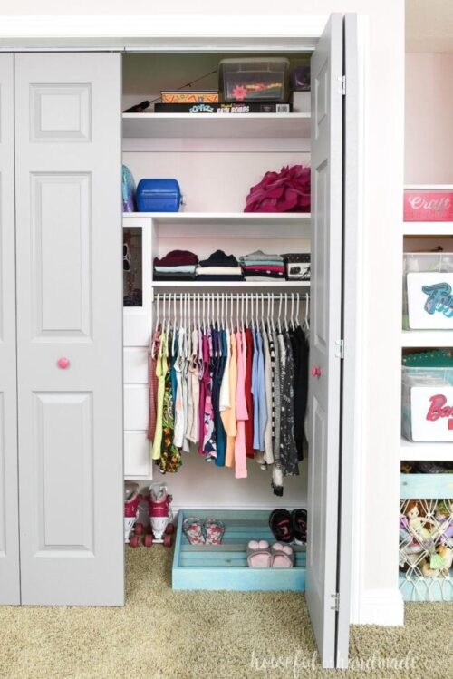 $100 Girl Closet Makeover by Houseful of Handmade After