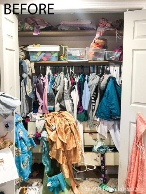 $100 Girl Closet Makeover by Houseful of Handmade Before