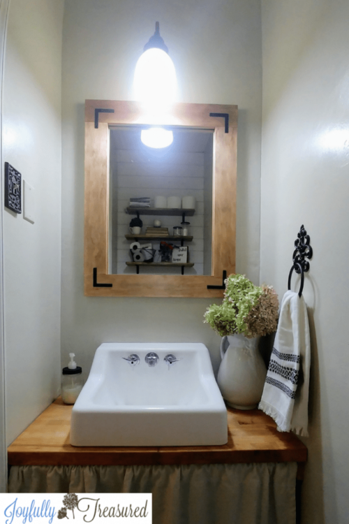 $100 Powder Room Makeover by Joyfully Treasured After