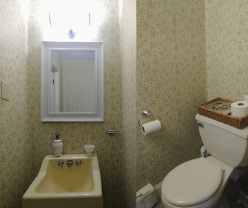 $100 Powder Room Makeover by Joyfully Treasured Before
